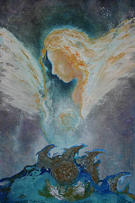 Painting - Angelic Encounters  by Alma Yamazaki