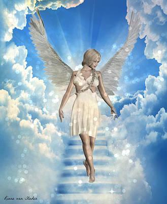 Digital Art - Guardian Angel  by Riana Van Staden