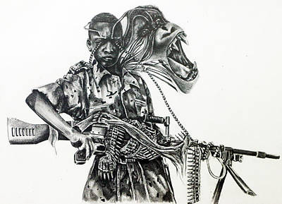 Corruption Drawing - Guerilla by Silvana Mejia
