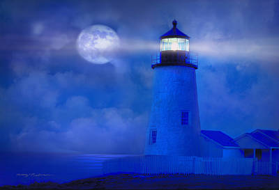 Maine Photograph - Guiding Lights by George Robinson
