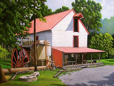 Old Mill Scenes Painting - Guilford Mill by Larry Hoskins