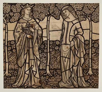 Guinevere Painting - Guinevere And Iseult by William Morris