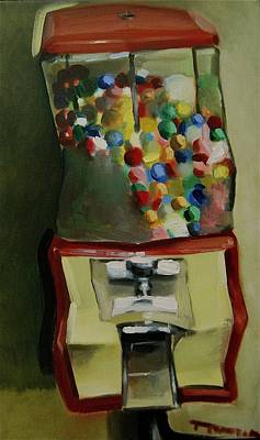 Painting - Gum Ball Machine Art Print by Tommervik
