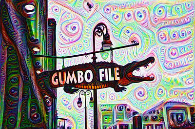 Gumbo Painting - Gumbo File by Bill Cannon