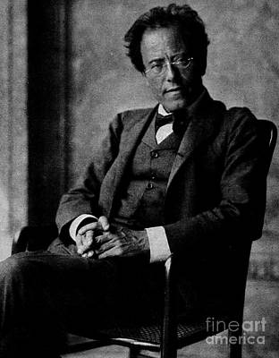 Black Jacket Photograph - Gustav Mahler by Austrian School