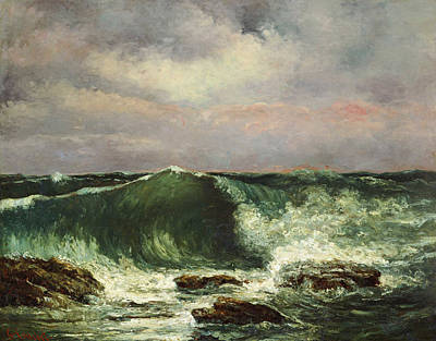 Gustave Painting - Gustave Courbet The Waves by MotionAge Designs