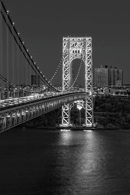 Gw Bridge At Twilight Art Print by Susan Candelario