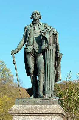 Statue Of George Washington Art Print by Gaetano Chieffo