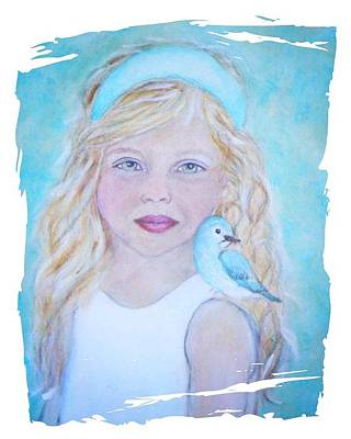 Painting - Gwyneth Little Earth Angel Of Happiness by The Art With A Heart By Charlotte Phillips
