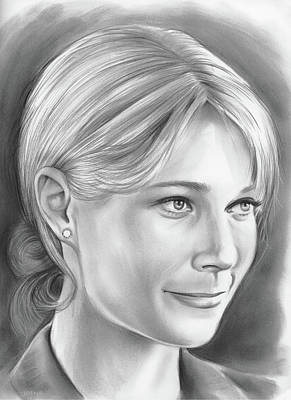 Writer Drawing - Gwyneth Paltrow by Greg Joens