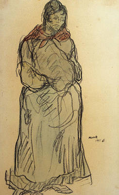 Drawing - Gypsy Standing by Isidre Nonell