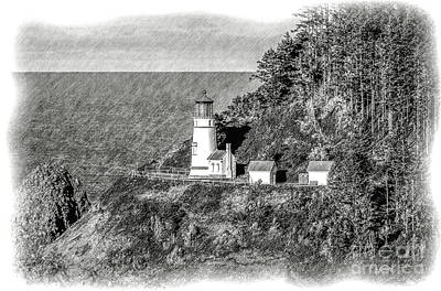 Tapestry - Textile - Haceta Head Lighthouse by Dennis Bucklin
