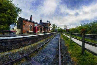 Rail Digital Art - Hadlow Road Railway Station by Ian Mitchell