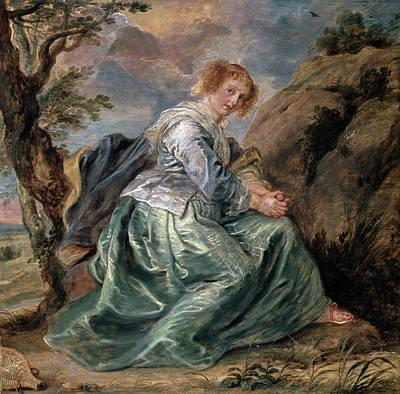 Bible Painting - Hagar In The Desert by Peter Paul Rubens
