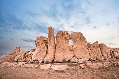 Megalith Photograph - Hagar Qim Temples - Malta by Joana Kruse