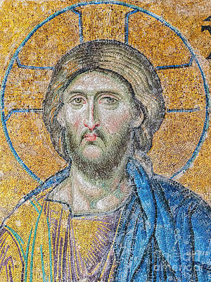 Photograph - Hagia Sofia Jesus Mosaic by Antony McAulay