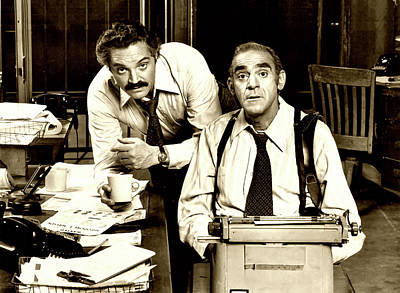 Photograph - Hal Linden And Abe Vigoda In Barney Miller 1975 by Mountain Dreams