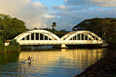 Haleiwa Photograph - Haleiwa Bridge by Paul Topp