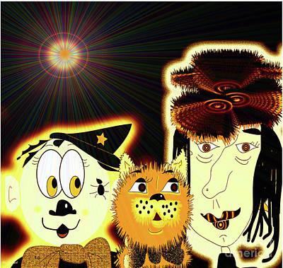 Digital Art - Halloween Fun by Iris Gelbart