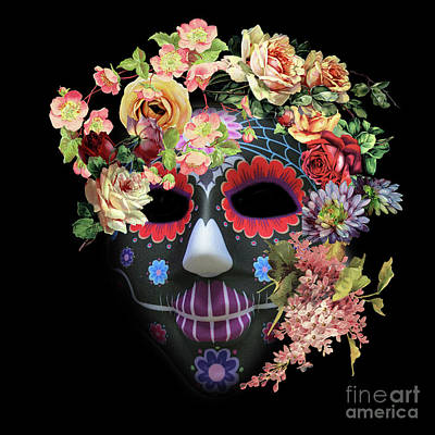 Photograph - Halloween Mask 4 by Barbara Dudzinska