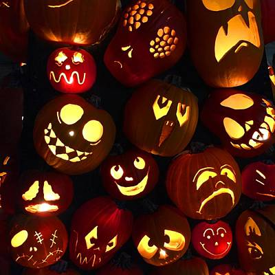 Photograph - Halloween Pumpkins by Cristina Stefan