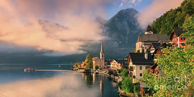 Hallstatt Is A Village In The Salzkammergut, A Region In Austria Art Print by Henk Meijer Photography