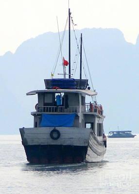 Photograph - Halong Boat 2 by Randall Weidner