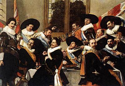 Banquet Digital Art - Hals Frans Banquet Of The Officers by Frans Hals