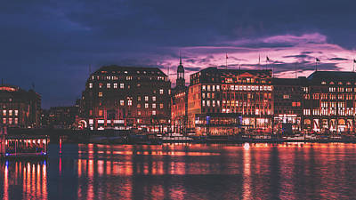 Photograph - Hamburg At Sunset by Pixabay