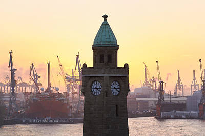 Art Print featuring the photograph Hamburg Sunset by Marc Huebner