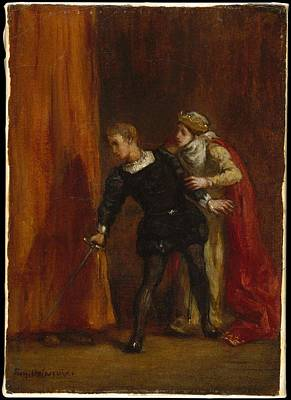 Hamlet And His Mother Original by Eugne Delacroix