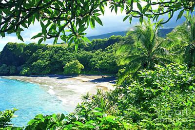 Art Print featuring the photograph Hamoa Beach Hana Maui Hawaii by Sharon Mau