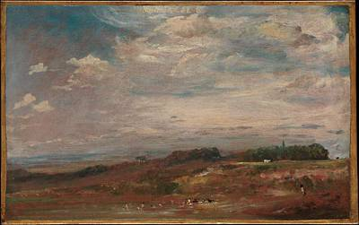 Hampstead Heath With Bathers Original by John Constable