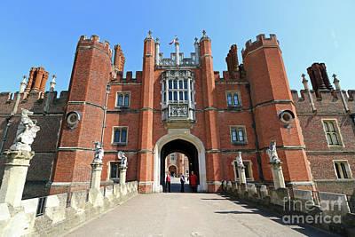 Abstract Stripe Patterns - Hampton Court Palace London by Julia Gavin