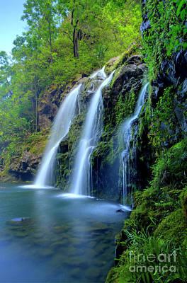 Photograph - Hana Waterfall by David Olsen