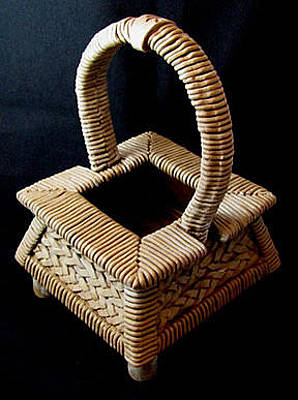 Ceramic Art - Hanakago Flower Basket by Judy  Hensley