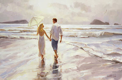 Couple Painting - Hand In Hand by Steve Henderson