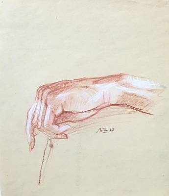 Drawing - Hand Study by Alejandro Lopez-Tasso