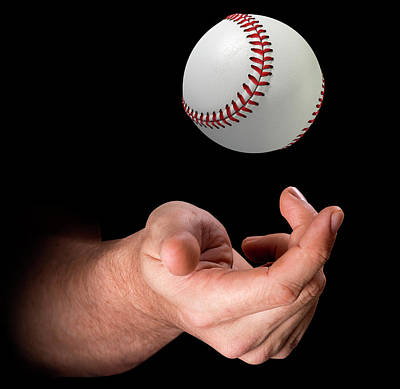 Hand Tossing Baseball Art Print
