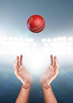Stadium Digital Art - Hands Catching Ball by Allan Swart