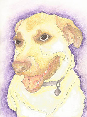 Puppy Mixed Media - Handsome Boy by Barbara  Campbell