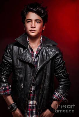 Photograph - Handsome Teen Boy  by Anna Om