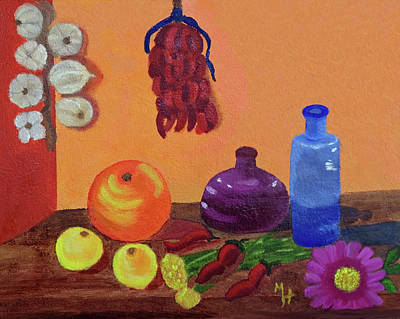 Painting - Hanging Around With Spices by Margaret Harmon