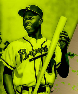 Mixed Media - Hank Aaron Collection by Marvin Blaine