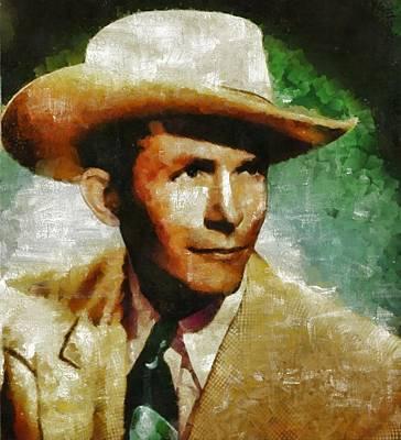 Hank Williams Country Star Art Print by Mary Bassett