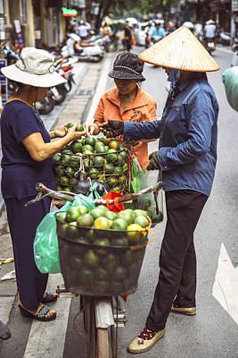 Photograph - Hanoi, Vietnam - Vietnamese Street Market Lady Sell by Eduardo Huelin