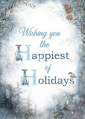 Digital Art - Happiest Of Holidays by Teresa Wilson