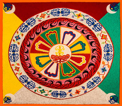 Sand Mandala Photograph - Happiness And Inner Peace by Jeff Folger