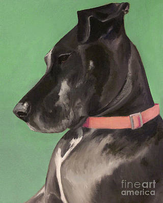 Great Dane Oil Painting - Happiness Is Luna by Alyson Kinkade