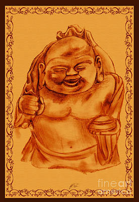 Happy Buddha Art Print